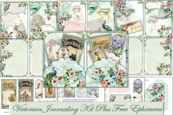 Print on Demand: Victorian Journal Kit with Free Ephemera Graphic Crafts By The Paper Princess