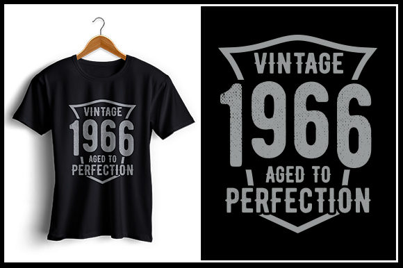 Vintage 1966 Aged To Perfection Graphic By Zaibbb Creative Fabrica