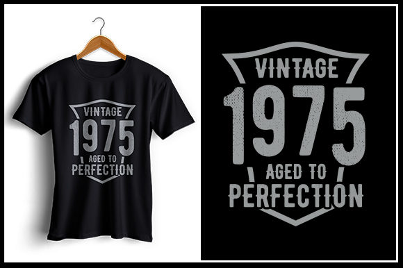 Print on Demand: Vintage 1975 Aged to Perfection Graphic Crafts By Zaibbb