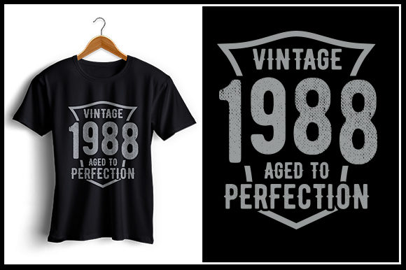 Print on Demand: Vintage 1988 Aged to Perfection Graphic Crafts By Zaibbb