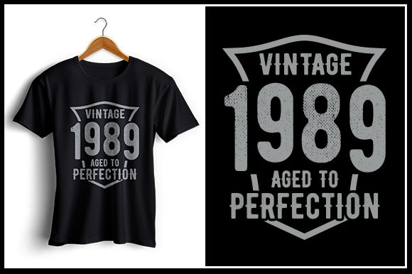 Print on Demand: Vintage 1989 Aged to Perfection Graphic Crafts By Zaibbb