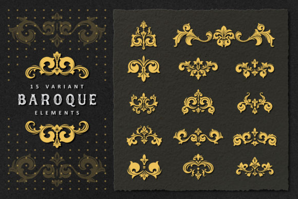 Vintage Baroque Victorian Set Graphic Illustrations By AllmoStudio