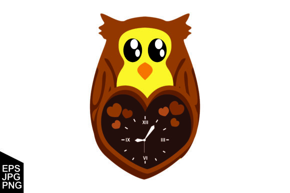 Download Free Wall Clock With Cute Owl Design Graphic By Arief Sapta Adjie Creative Fabrica for Cricut Explore, Silhouette and other cutting machines.