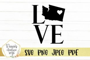 Download Free Washington Love W Heart Graphic By Reneescreativesvgs Creative for Cricut Explore, Silhouette and other cutting machines.