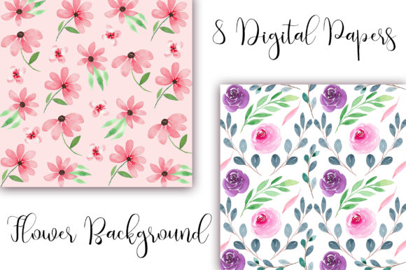 Watercolor Flower Background Graphic Backgrounds By PinkPearly - Image 2