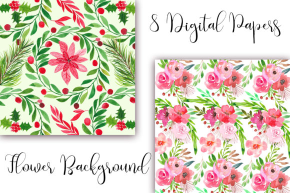 Watercolor Flower Background Graphic Backgrounds By PinkPearly - Image 3