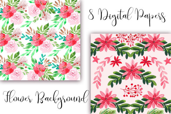 Watercolor Flower Background Graphic Backgrounds By PinkPearly - Image 4