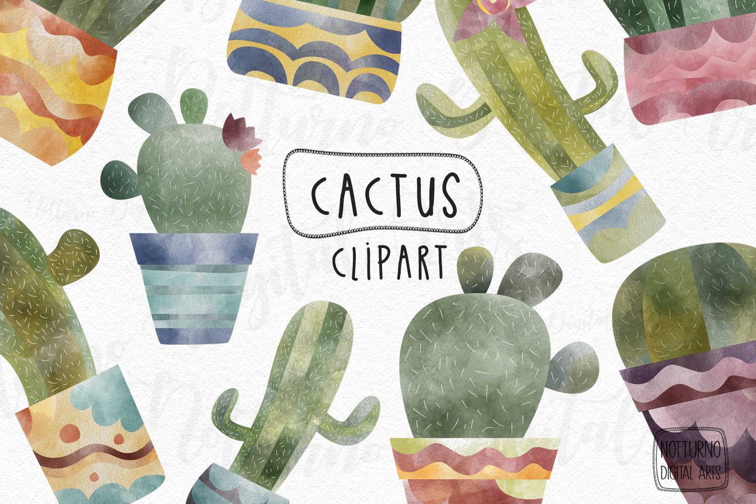 Download Free Watercolor Cactus Clipart Plants Digita Graphic By for Cricut Explore, Silhouette and other cutting machines.