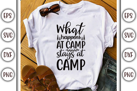 What Happens At Camp Adventure Design Graphic By Graphicsbooth Creative Fabrica