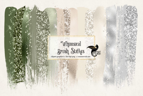 Print on Demand: Whimsical Brush Strokes Clipart Graphic Illustrations By Digital Curio