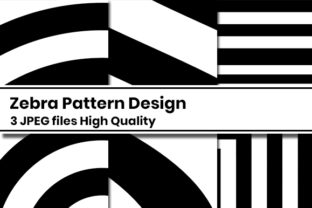 Print on Demand: Zebra Pattern Design Graphic Patterns By Masyafi Creative Studio