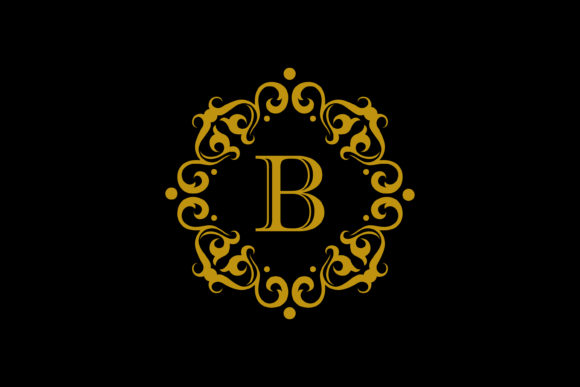 Download Free B Letter Logo Gold Graphic By Noory Shopper Creative Fabrica for Cricut Explore, Silhouette and other cutting machines.