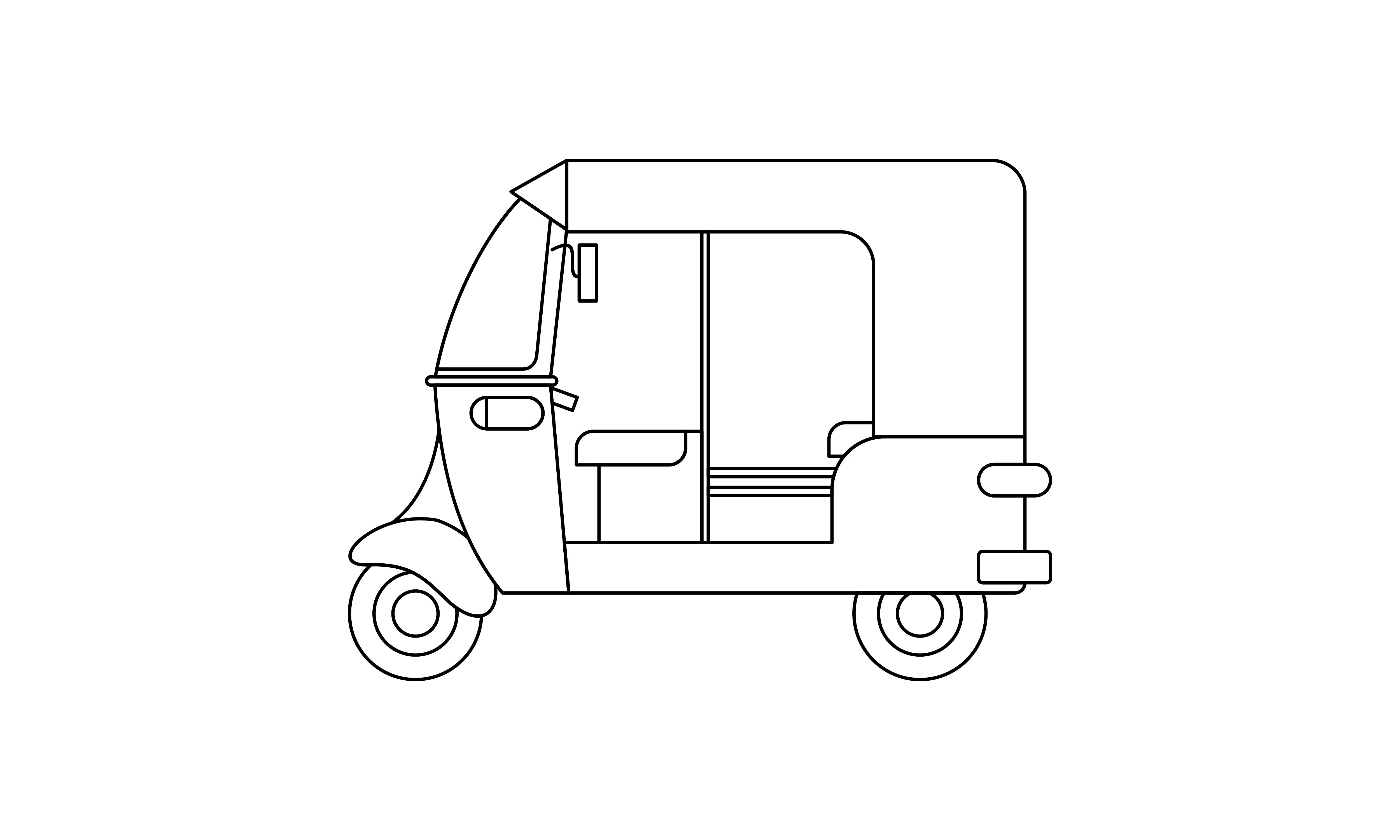Download Free Bajaj Coloring Book Transportation Logo Graphic By Deemka Studio for Cricut Explore, Silhouette and other cutting machines.
