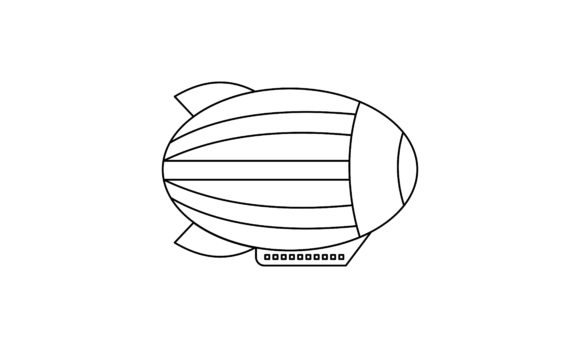 Ballon Air Coloring Book Transportation Graphic Coloring Pages & Books Kids By DEEMKA STUDIO