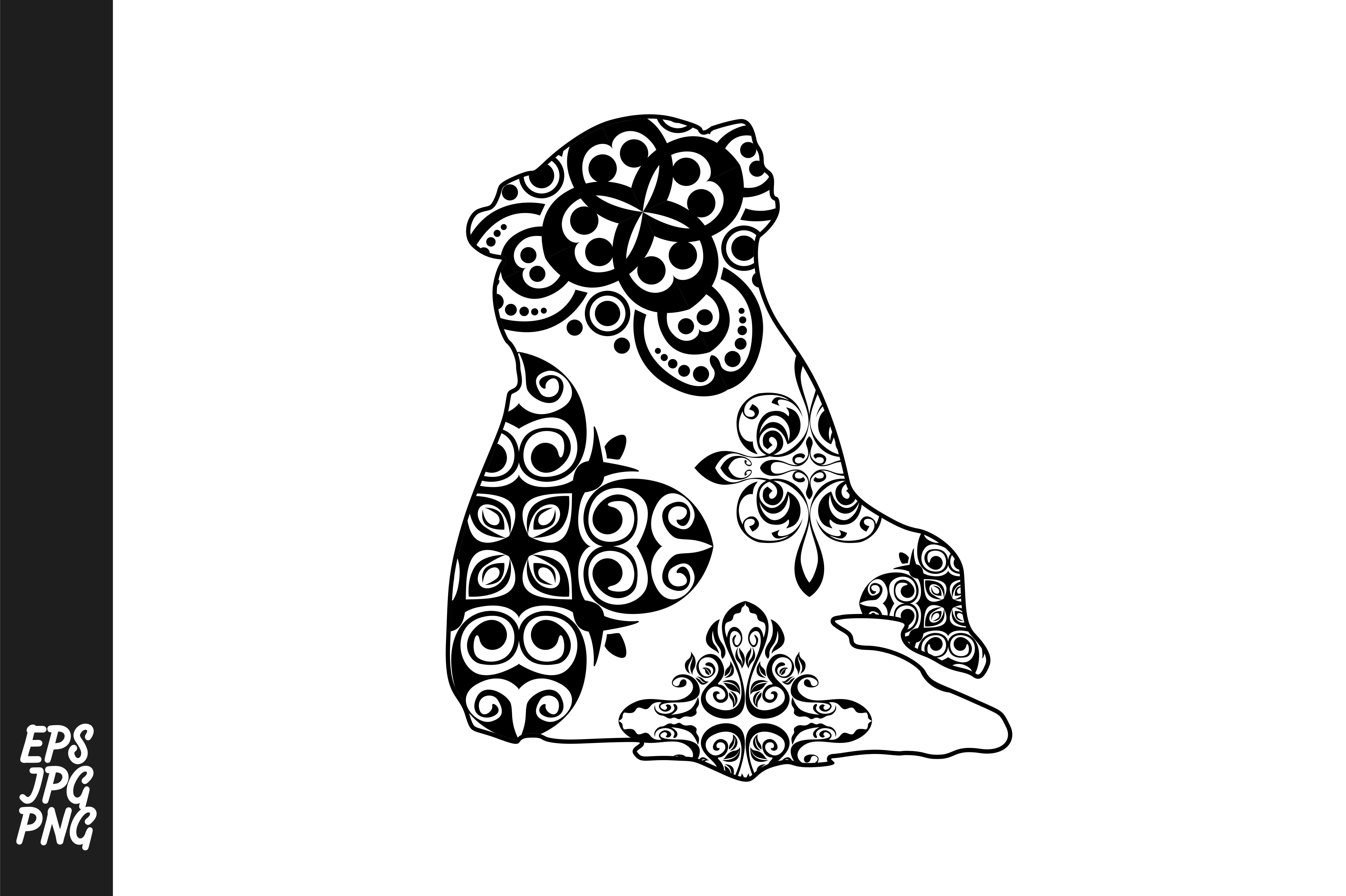 Download Free Bear Mandala Line Art Style Graphic By Arief Sapta Adjie for Cricut Explore, Silhouette and other cutting machines.