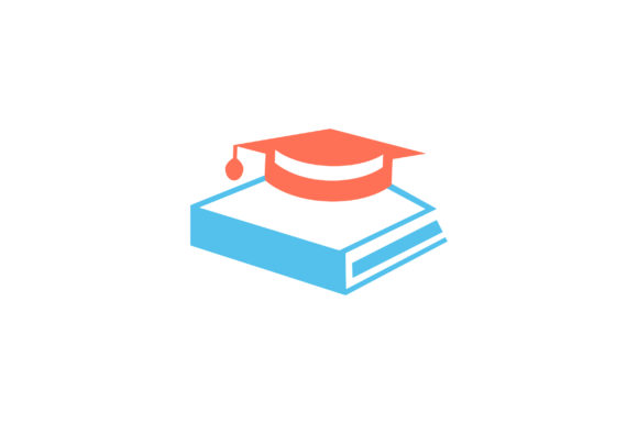 Download Free Book With Graduation Cap Flat Icon Graphic By Riduwan Molla for Cricut Explore, Silhouette and other cutting machines.