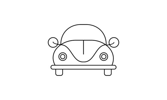 Download Free Car Coloring Book Transportation Logo Graphic By Deemka Studio for Cricut Explore, Silhouette and other cutting machines.