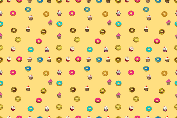 Download Free Donut Cup Cake Pattern Graphic By Curutdesign Creative Fabrica for Cricut Explore, Silhouette and other cutting machines.