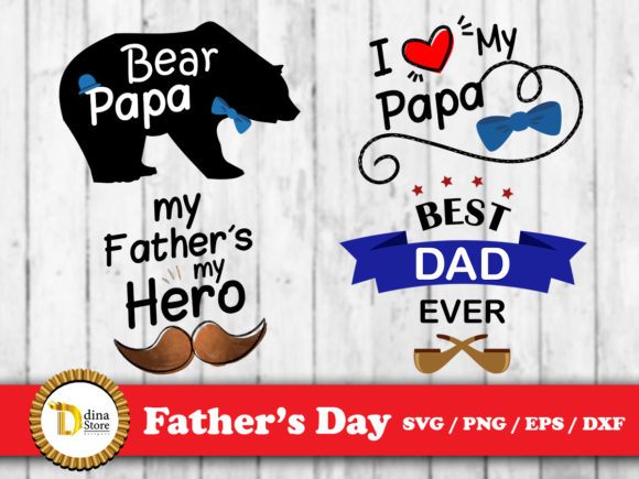 Download Free Father S Day Graphic By Dina Store4art Creative Fabrica for Cricut Explore, Silhouette and other cutting machines.