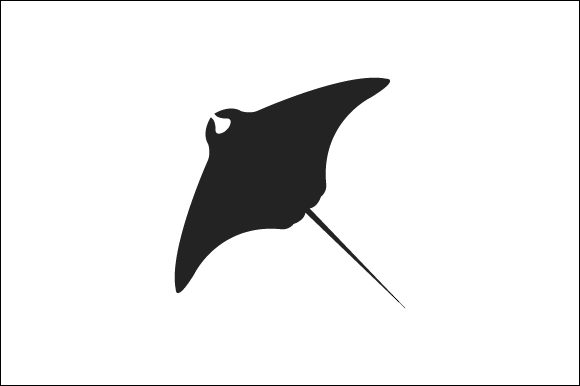 Download Free Fish Manta Icon Graphic By Marco Livolsi2014 Creative Fabrica for Cricut Explore, Silhouette and other cutting machines.