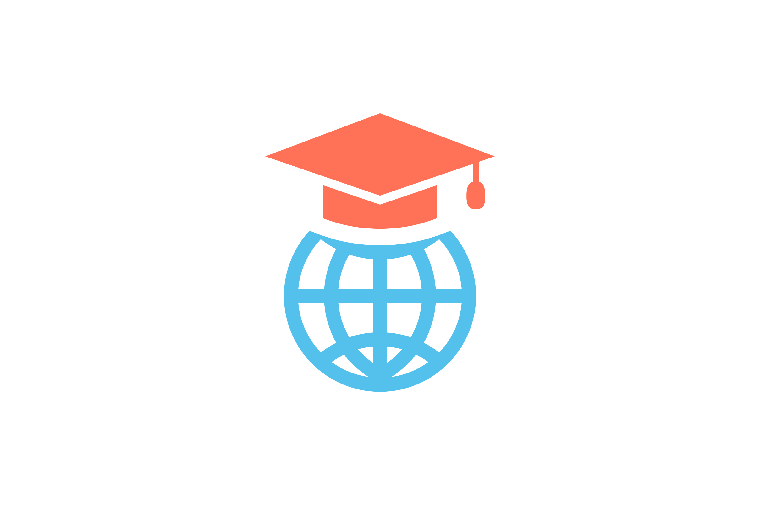 Download Free Globe And Graduation Cap Flat Icon Graphic By Riduwan Molla for Cricut Explore, Silhouette and other cutting machines.