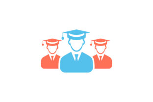 Download Free Group Of Graduate Student Flat Icon Graphic By Riduwan Molla Creative Fabrica for Cricut Explore, Silhouette and other cutting machines.