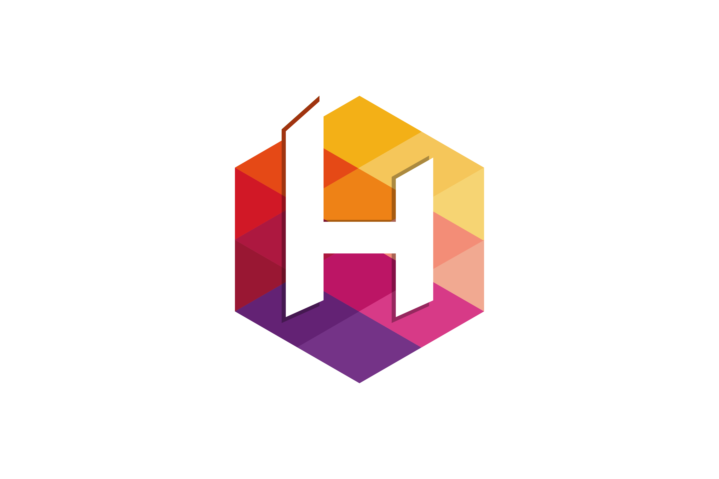 H Letter Colorful Hexagon Logo Graphic By Noory Shopper Creative Fabrica