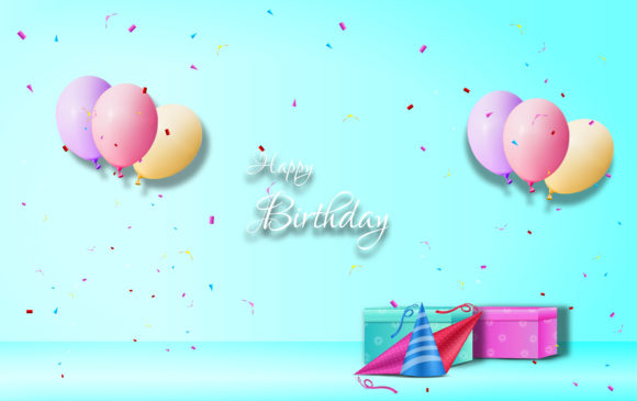 Download Free Happy Birthday Greeting Graphic By Ngabeivector Creative Fabrica for Cricut Explore, Silhouette and other cutting machines.