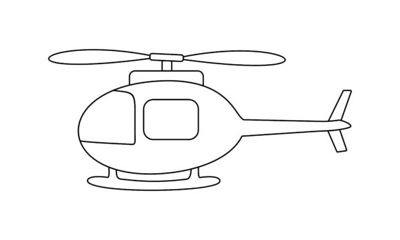 Helicoopter Coloring Book Transportation Graphic Coloring Pages & Books Kids By DEEMKA STUDIO
