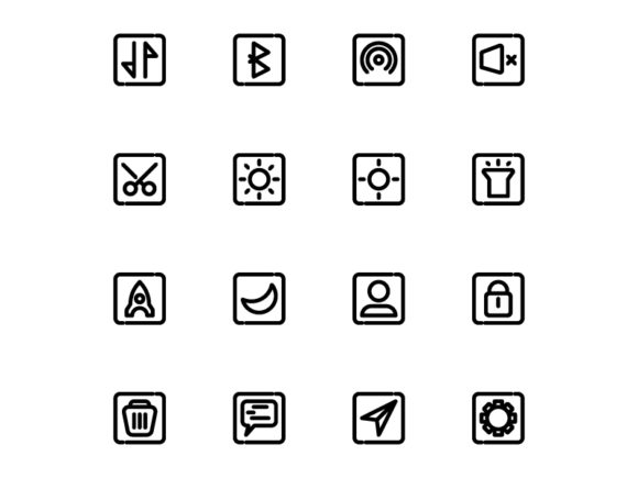 Icon App Line Style Graphic Icons By renisugiarto21