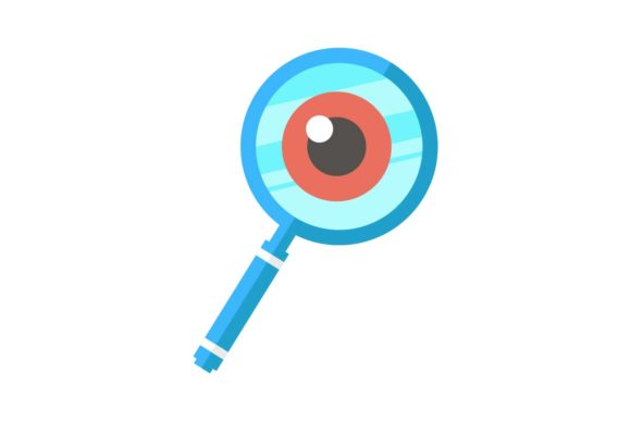 Print on Demand: Magnifying Glass and Eye Icon Graphic Icons By Home Sweet