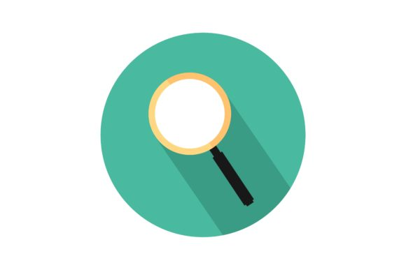 Print on Demand: Magnifying Glass in Icon Graphic Icons By Home Sweet