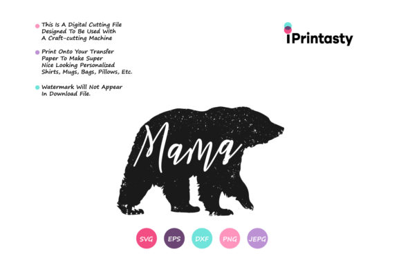 Download Free Mama Bear Mom Bear Svg Graphic By Iprintasty Creative Fabrica for Cricut Explore, Silhouette and other cutting machines.