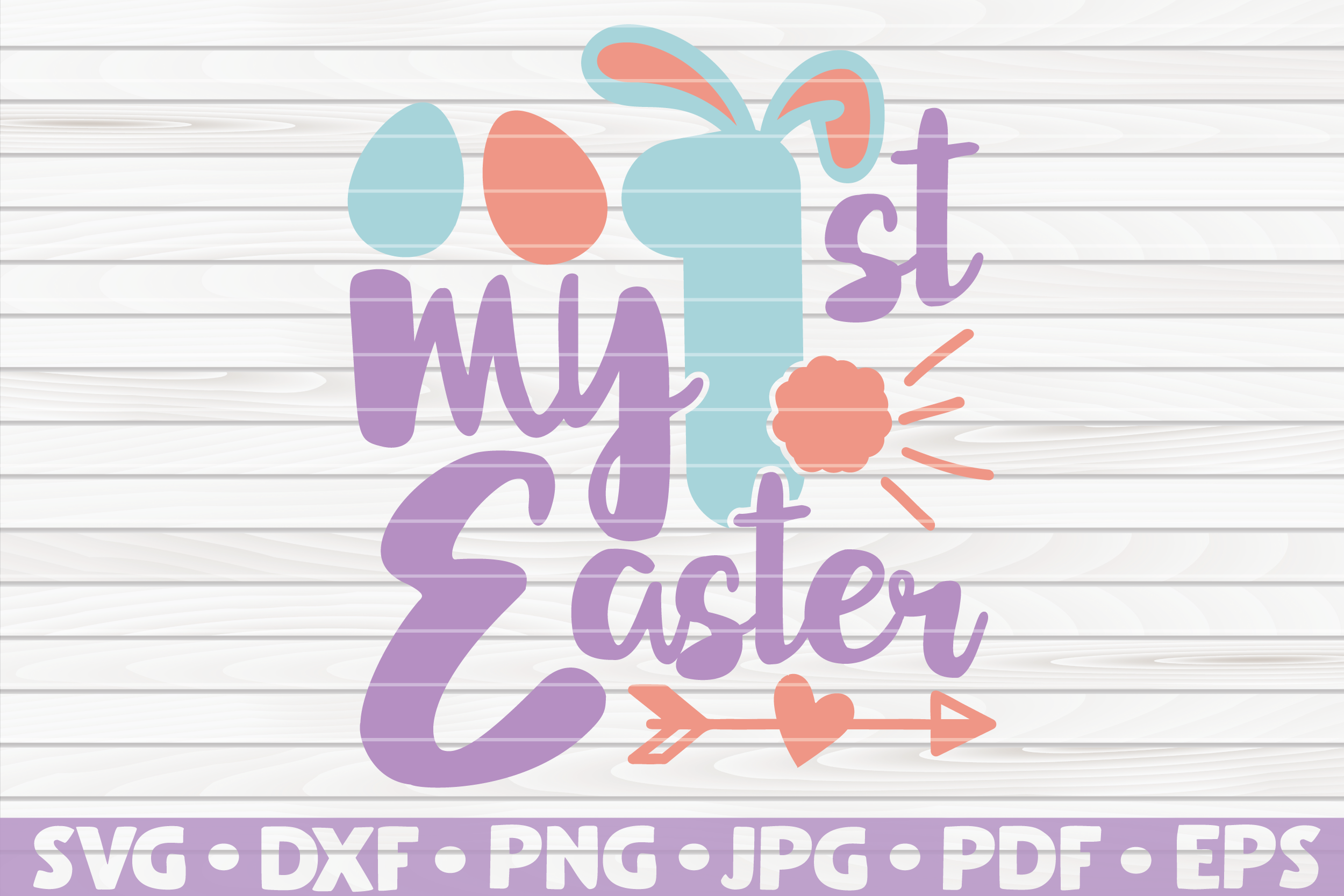 Download Free My First Easter Cute Easter Vector Graphic By Mihaibadea95 for Cricut Explore, Silhouette and other cutting machines.
