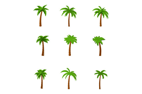 Print on Demand: Palm Tree Collection Graphic Illustrations By curutdesign