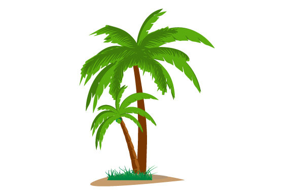 Print on Demand: Palm Tree Illustration Graphic Illustrations By curutdesign