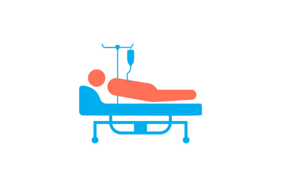 Download Free Patient On Bed Flat Icon Vector Graphic By Riduwan Molla for Cricut Explore, Silhouette and other cutting machines.
