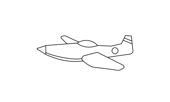 Plane Coloring Book Transportation Logo Graphic Coloring Pages & Books Kids By DEEMKA STUDIO