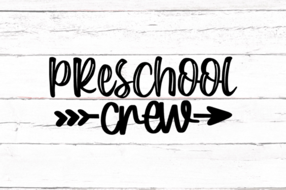 Download Free Preschool Crew Graphic By Thesmallhouseshop Creative Fabrica for Cricut Explore, Silhouette and other cutting machines.