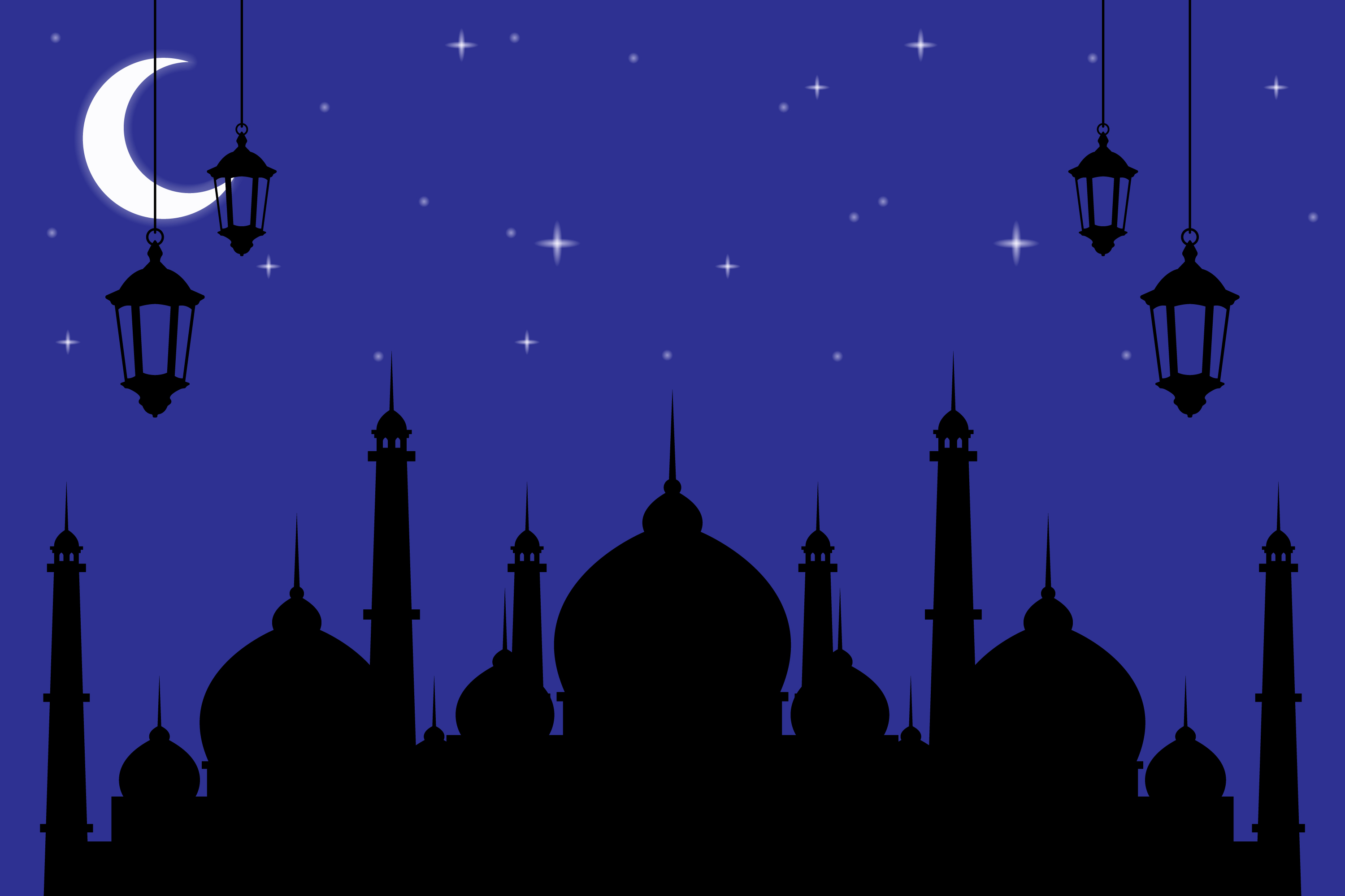 Download Free Ramadan Kareem Greeting Cards Graphic By Sabavector Creative for Cricut Explore, Silhouette and other cutting machines.