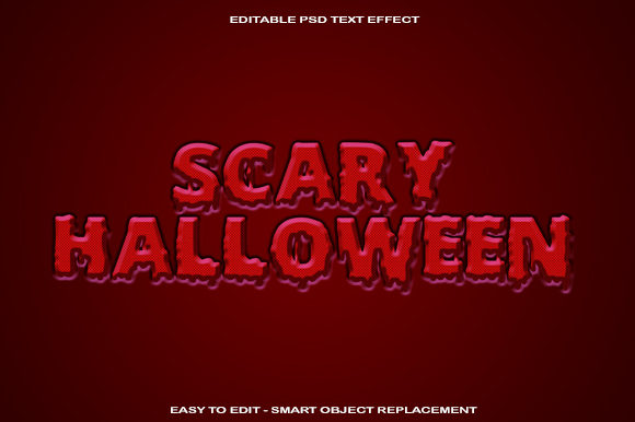 Scary Halloween Text Effect Graphic Graphic Templates By knou