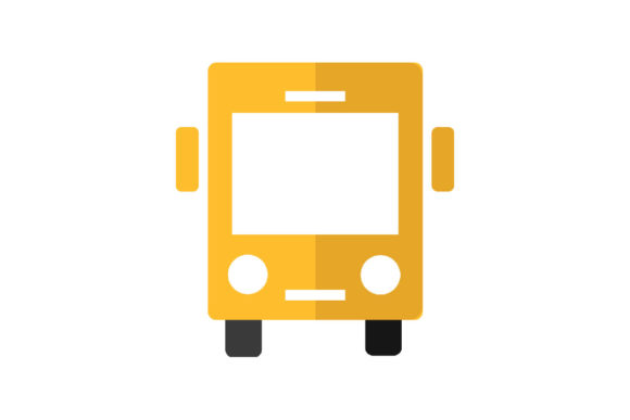 Print on Demand: School Bus Graphic Icons By Home Sweet