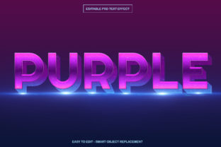 Shining Purple Text Effect in Photoshop Graphic Product Mockups By Vutura