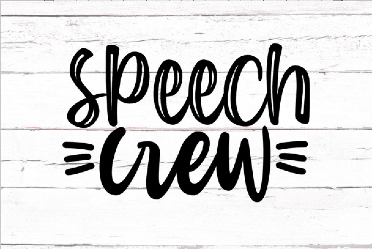 Download Free Speech Crew Graphic By Thesmallhouseshop Creative Fabrica for Cricut Explore, Silhouette and other cutting machines.
