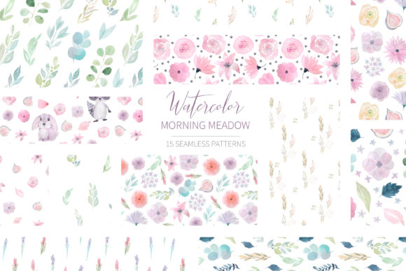 Download Free 15 Watercolor Tropical Patterns Set Graphic By Larysa for Cricut Explore, Silhouette and other cutting machines.