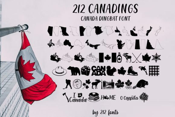 Print on Demand: 212 Canadings Dingbats Font By 212 Fonts