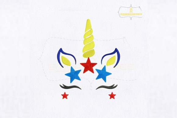 4th of July Unicorn Independence Day Embroidery Design By royalembroideries