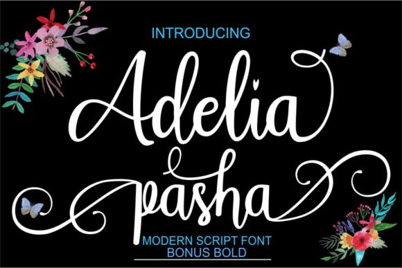 Print on Demand: Adelia Pasha Script & Handwritten Font By Bot Kerling