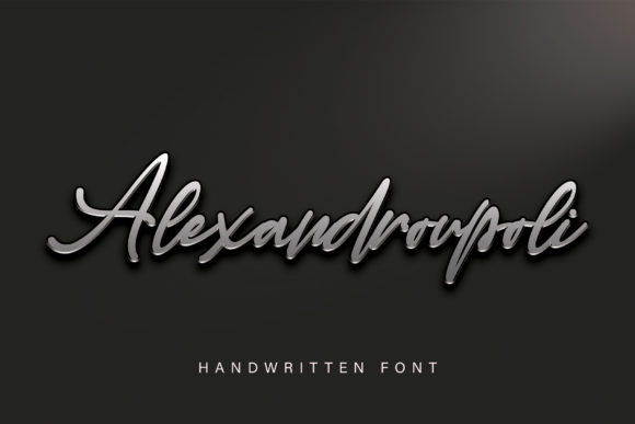 Print on Demand: Alexandroupoli Script & Handwritten Font By thomasaradea