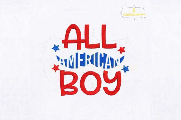 All American Boy Independence Day Embroidery Design By royalembroideries